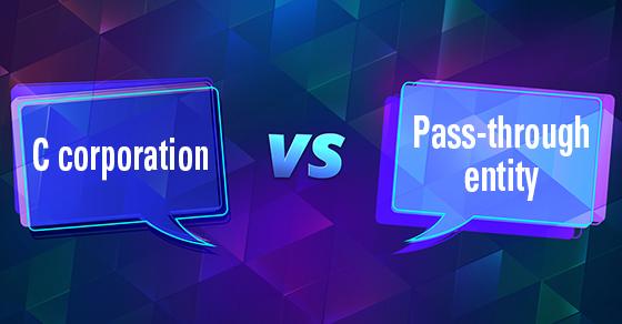 c corporation vs pass-through entity