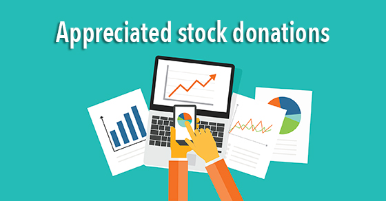 appreciated stock donations illustration
