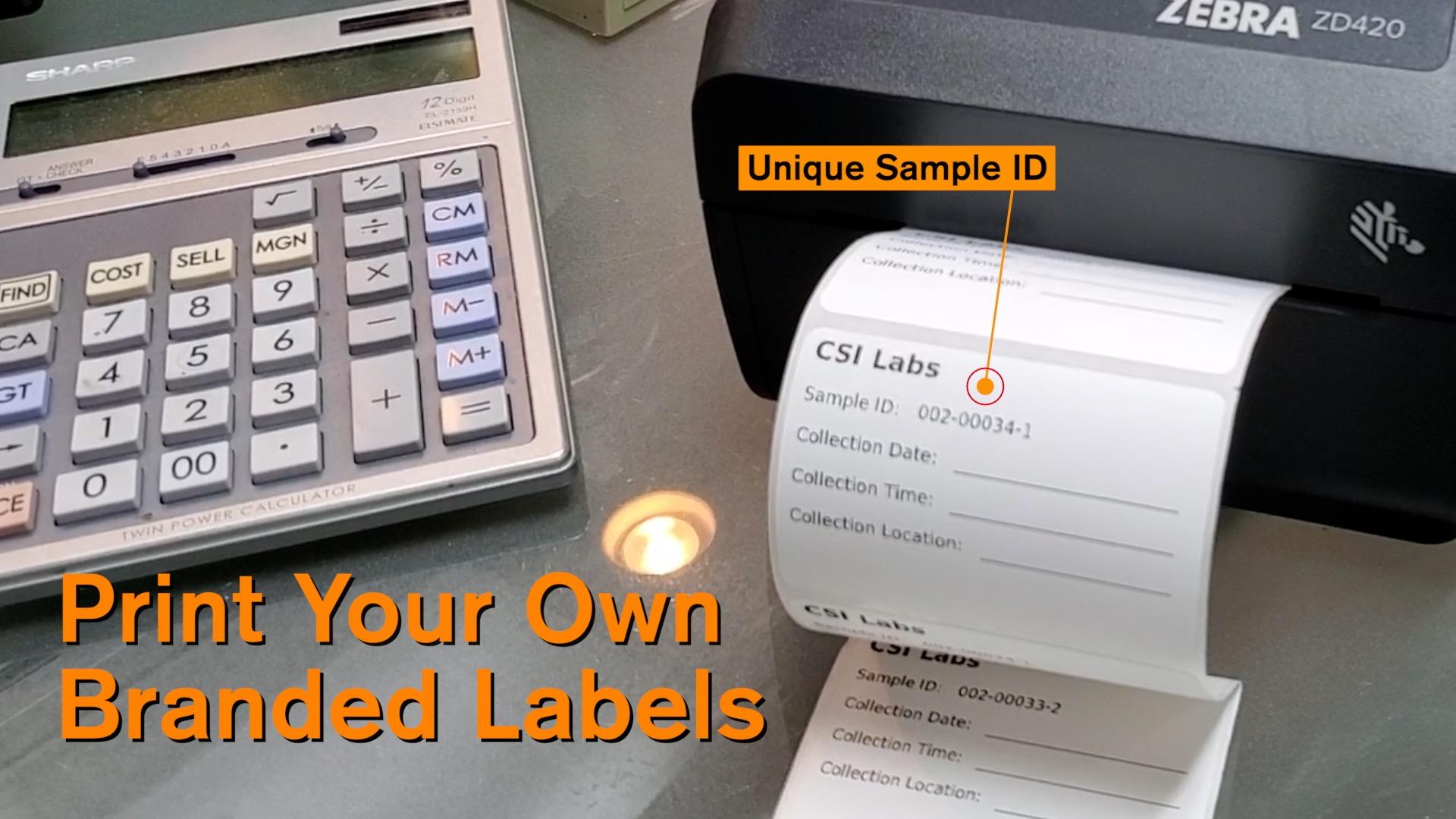 SampleH2O custom bottle labels