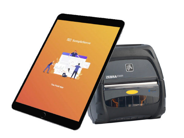 SampleServe SampleENV Tablet and Printer