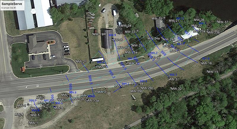 SampleServe Flow Contour Maps
