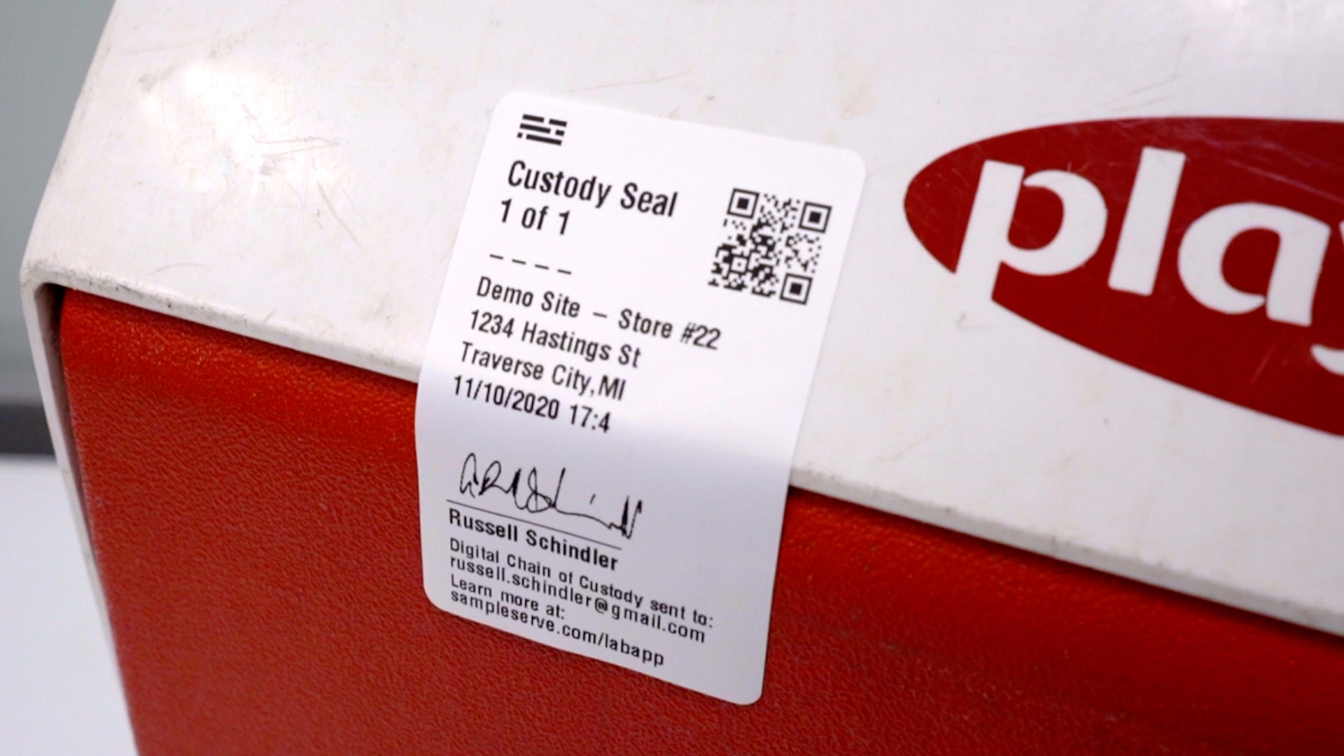 SampleServe Chain of Custody Seal