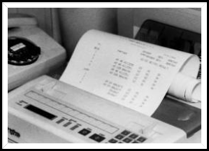 Early Fax Machine