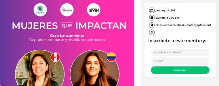 inscripción mujeres que impactan