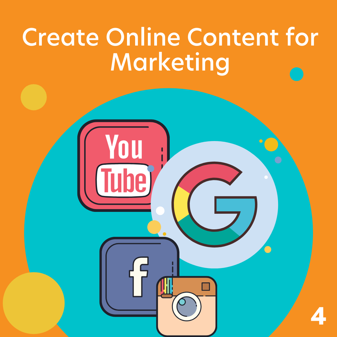 Create online content for marketing