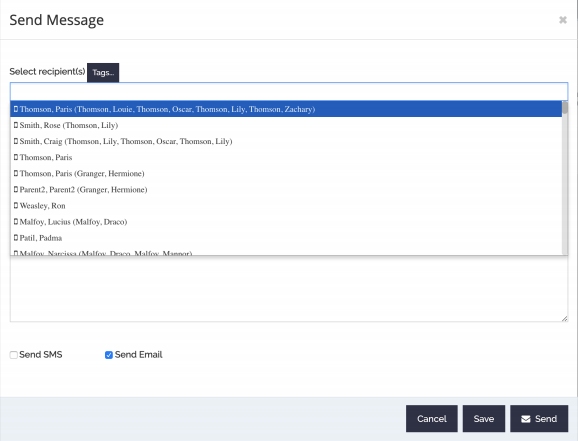curacubby email and text messaging system for schools