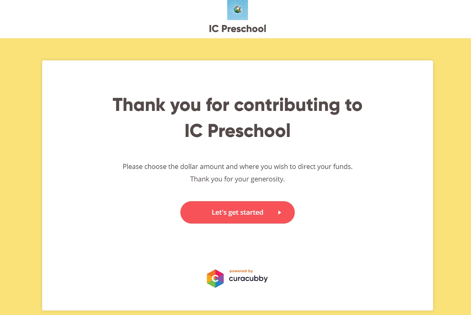 curacubby online donations portal for schools