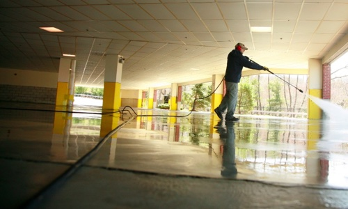 commercial concrete cleaning framingham