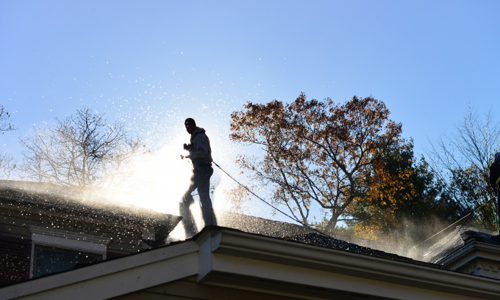 residential roof washing