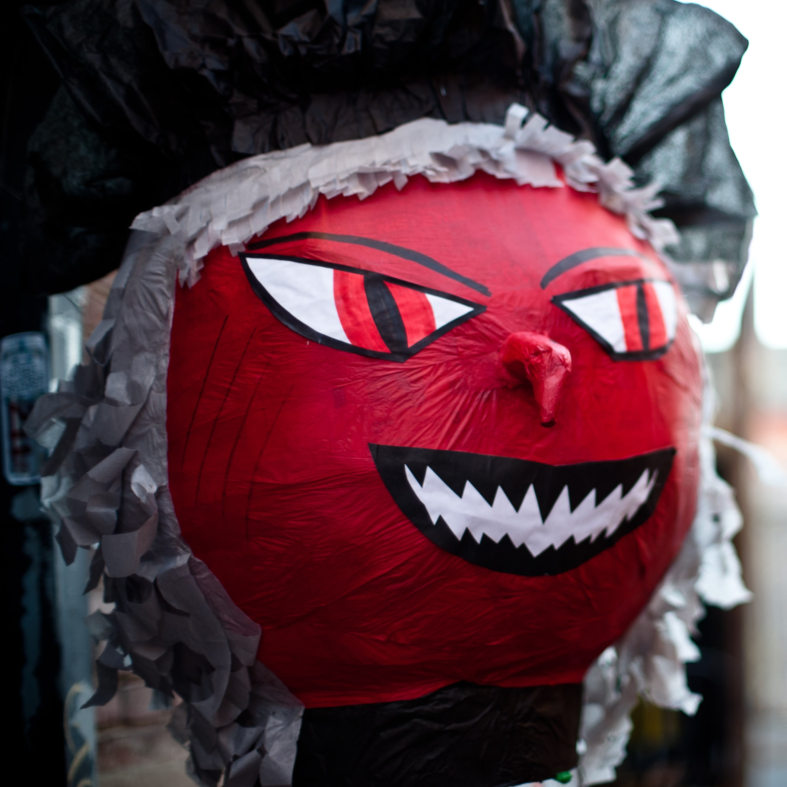 A festive pinata makes for a spooky office halloween decoration!