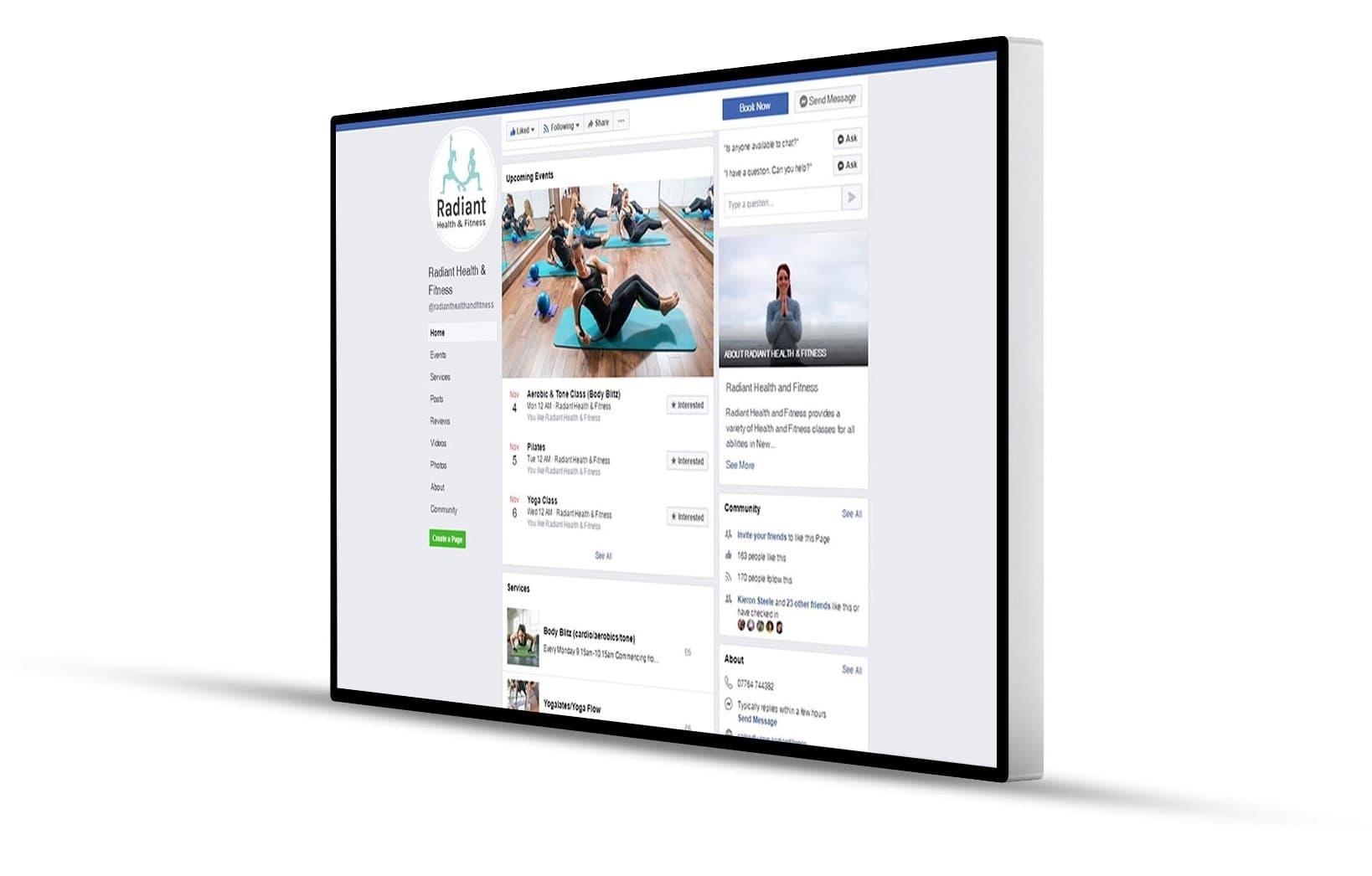 Radiant Fitness social media Cornwall