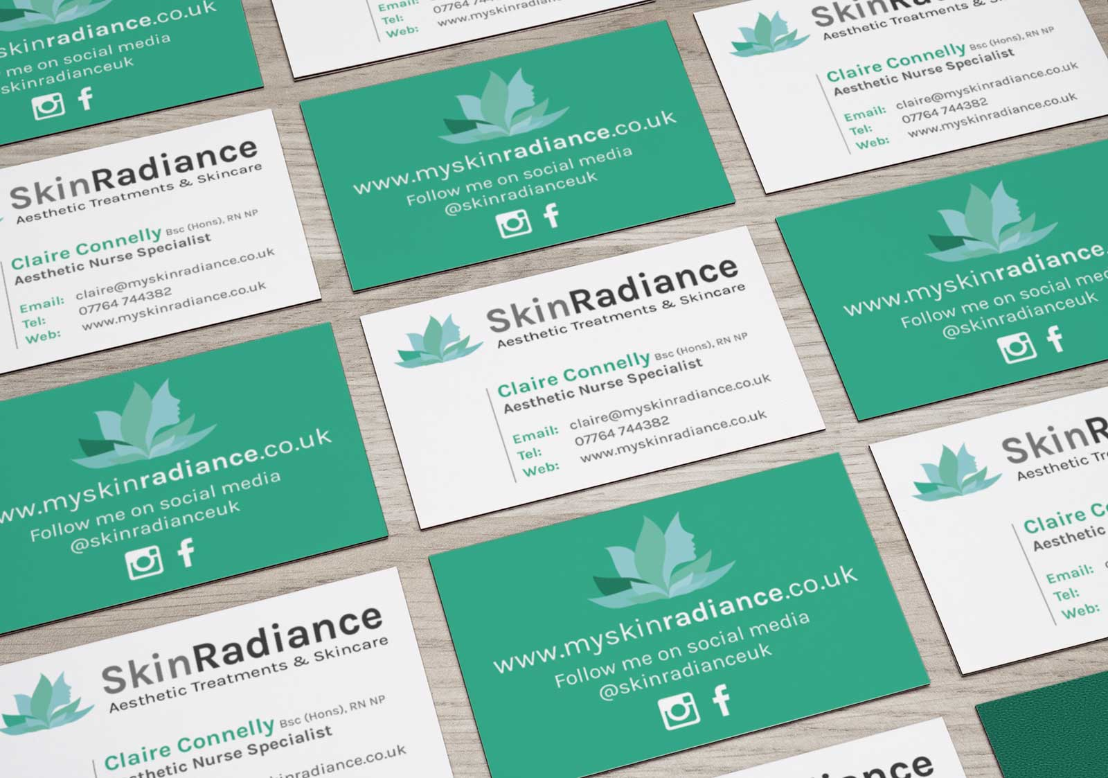 Skin Radiance business cards