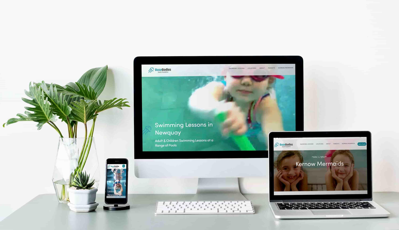 Responsive web design for swim school newquay
