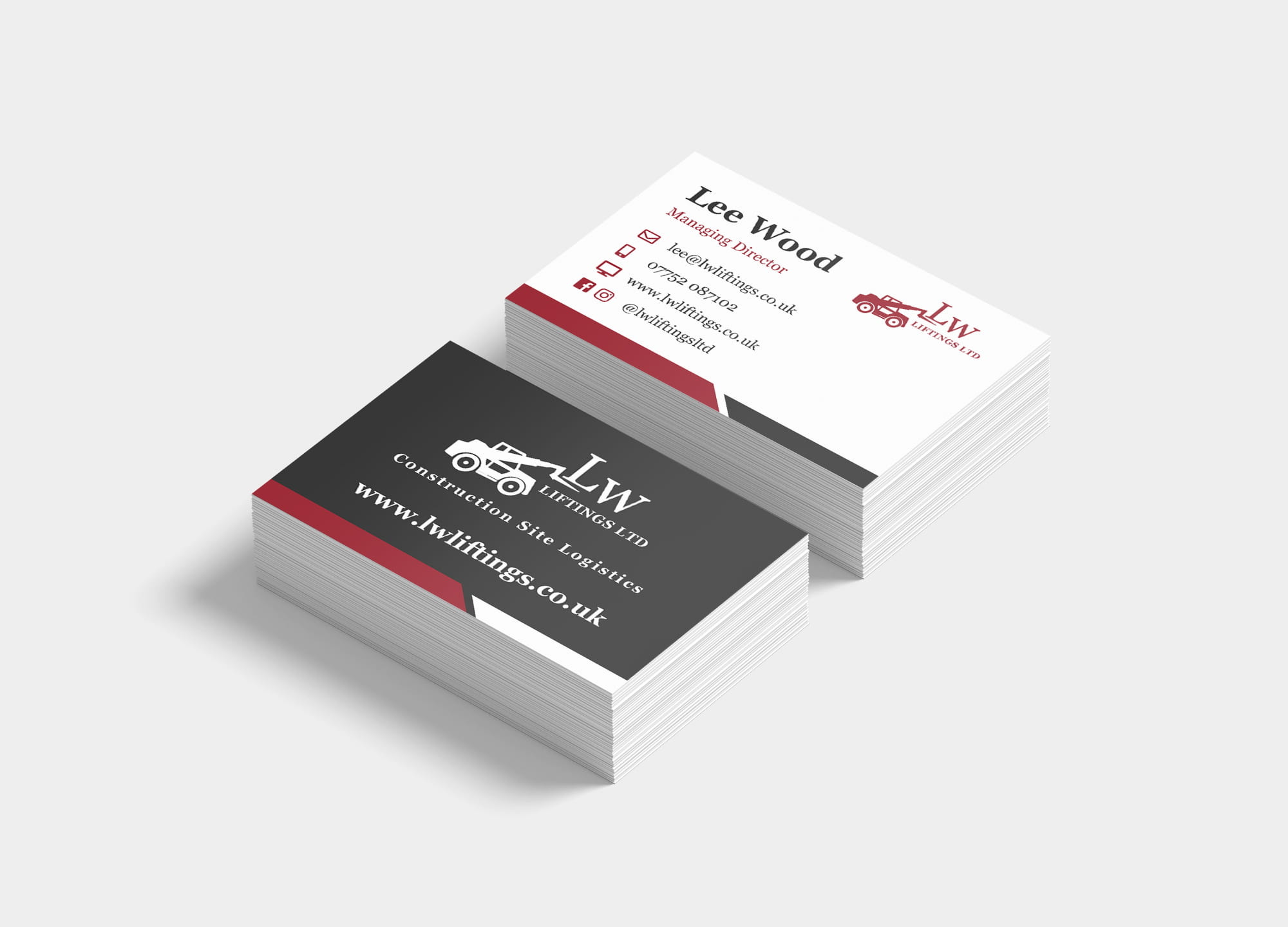 lw liftings business card mockups stacked business cards branding
