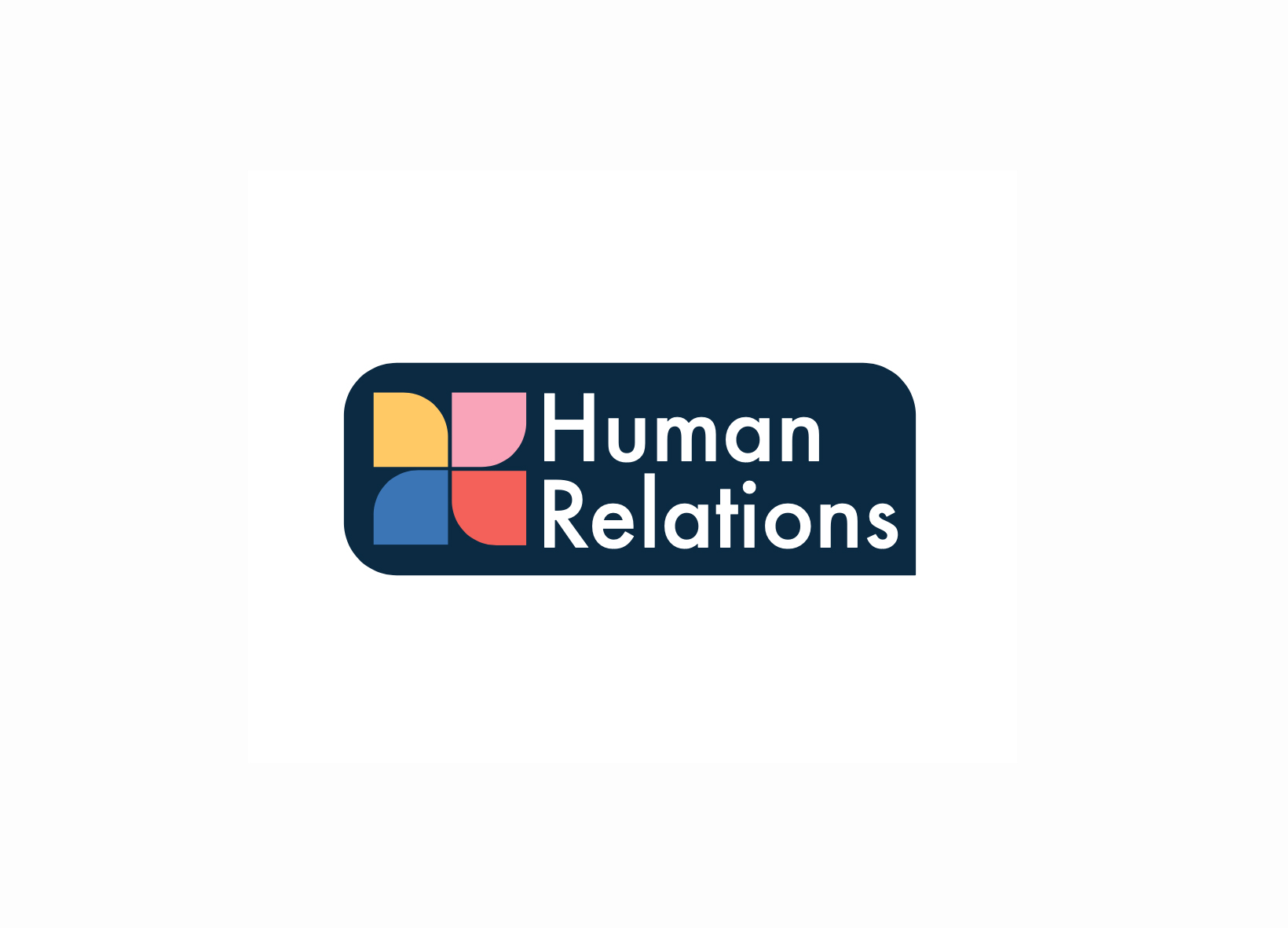 human relations branding shown in full colour with brand identity showcased