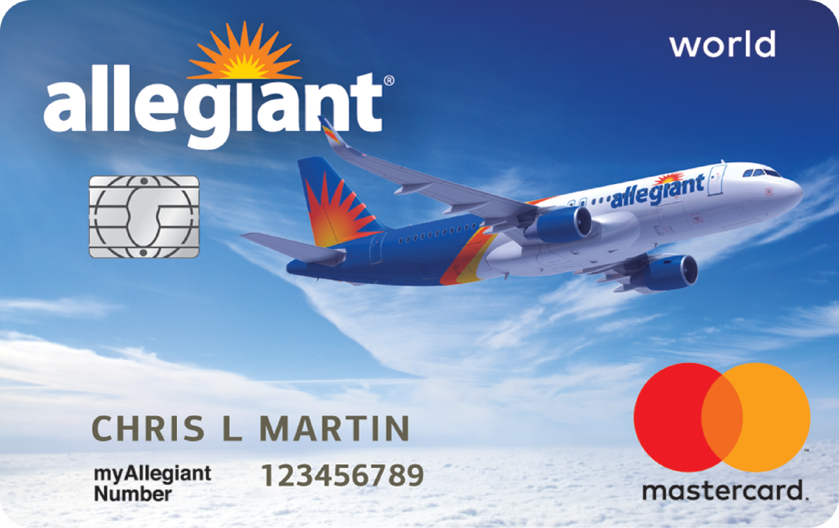 Allegiant's Bank of America loyalty card
