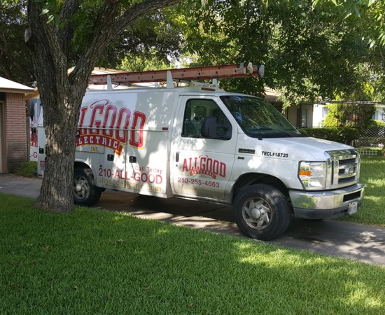 allgood electric inc service van