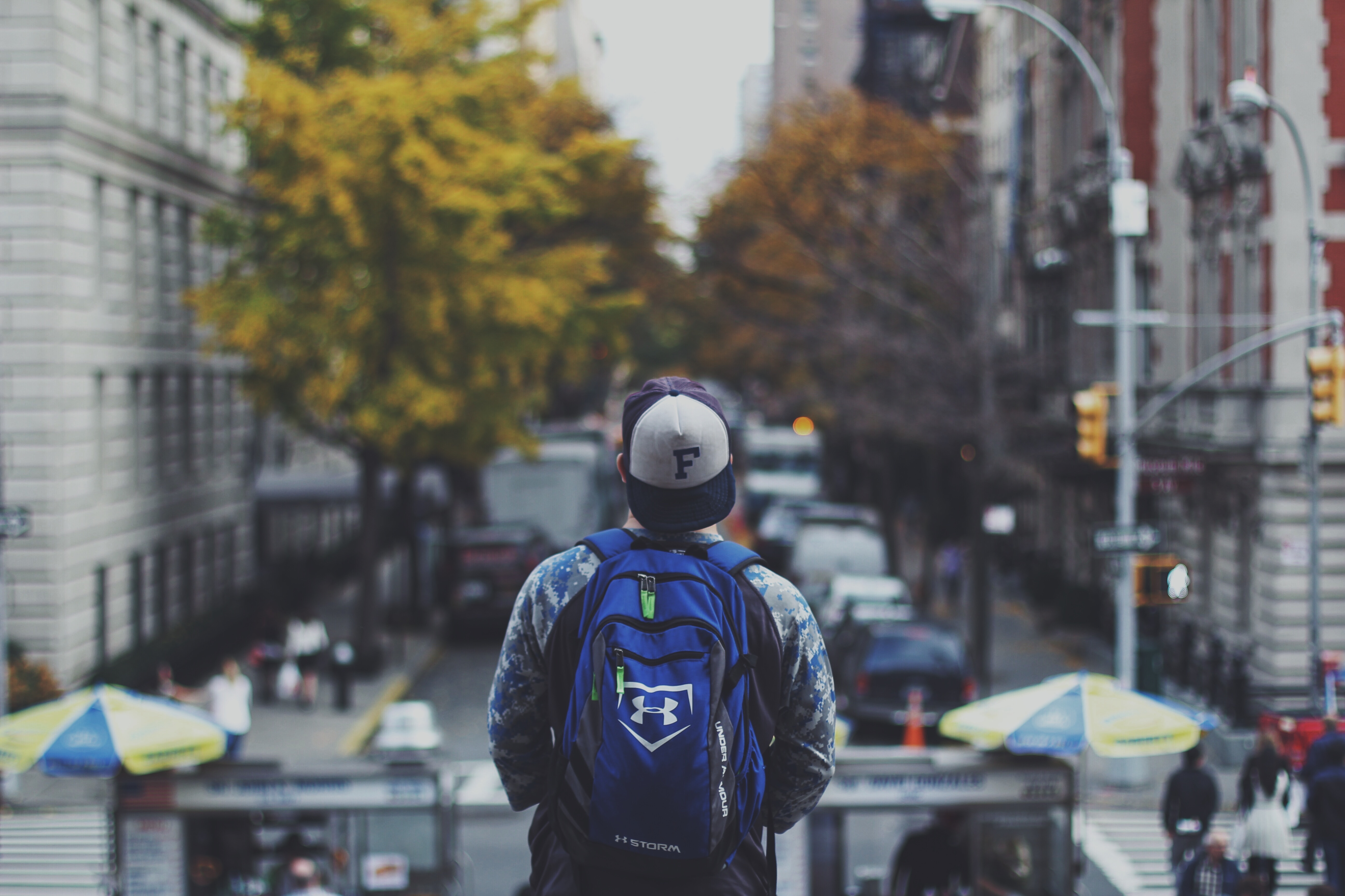 millennial with backpack