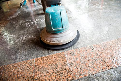 commercial tile polish strip & wax