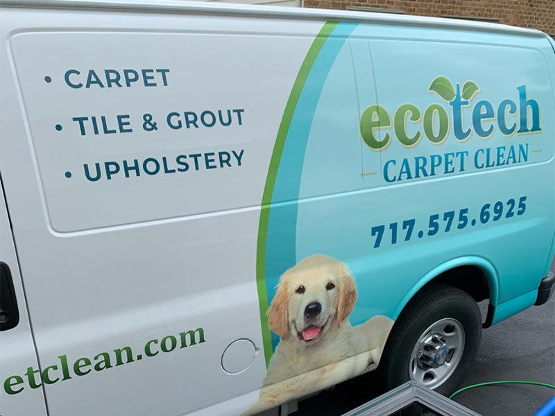 EcoTech Carpet Cleaning Van in East Hempfield Township, PA
