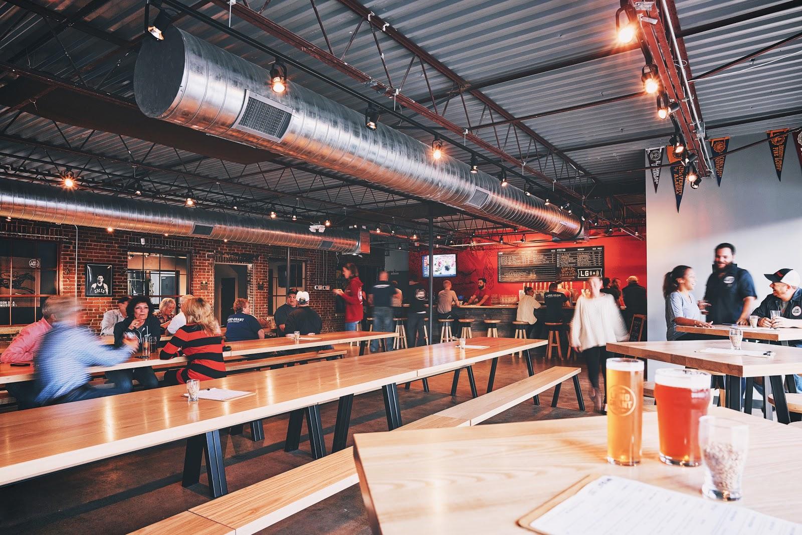 land grant brewery interior