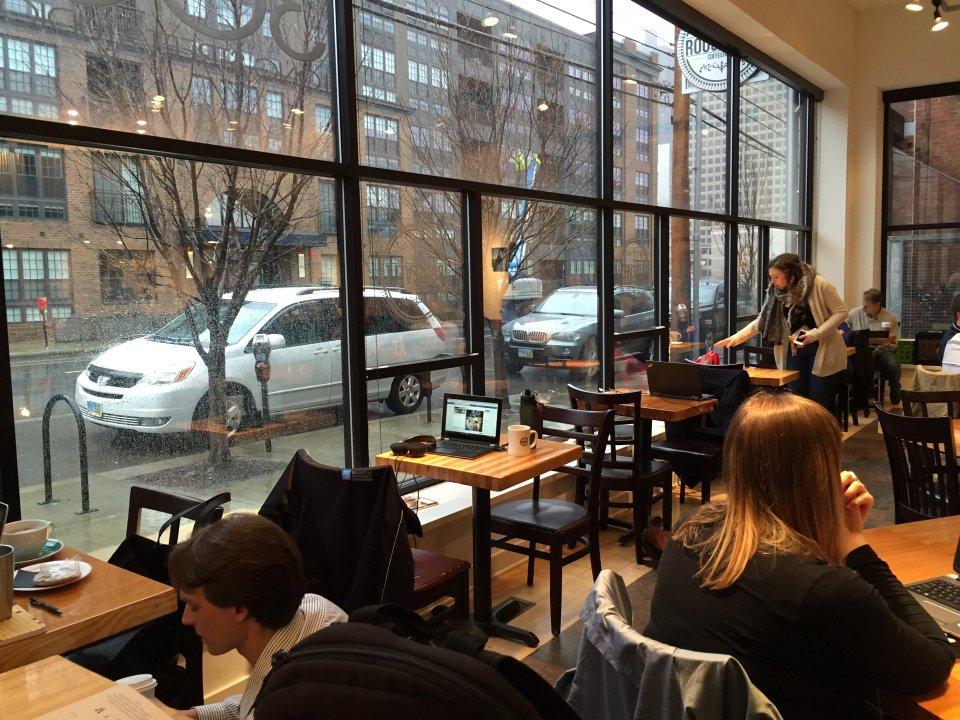 Inside of Roosevelt Coffee on East Long Street Columbus