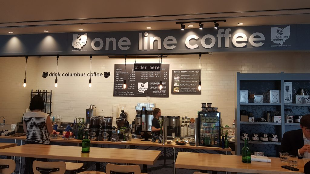 One Line Coffee counter in Columbus