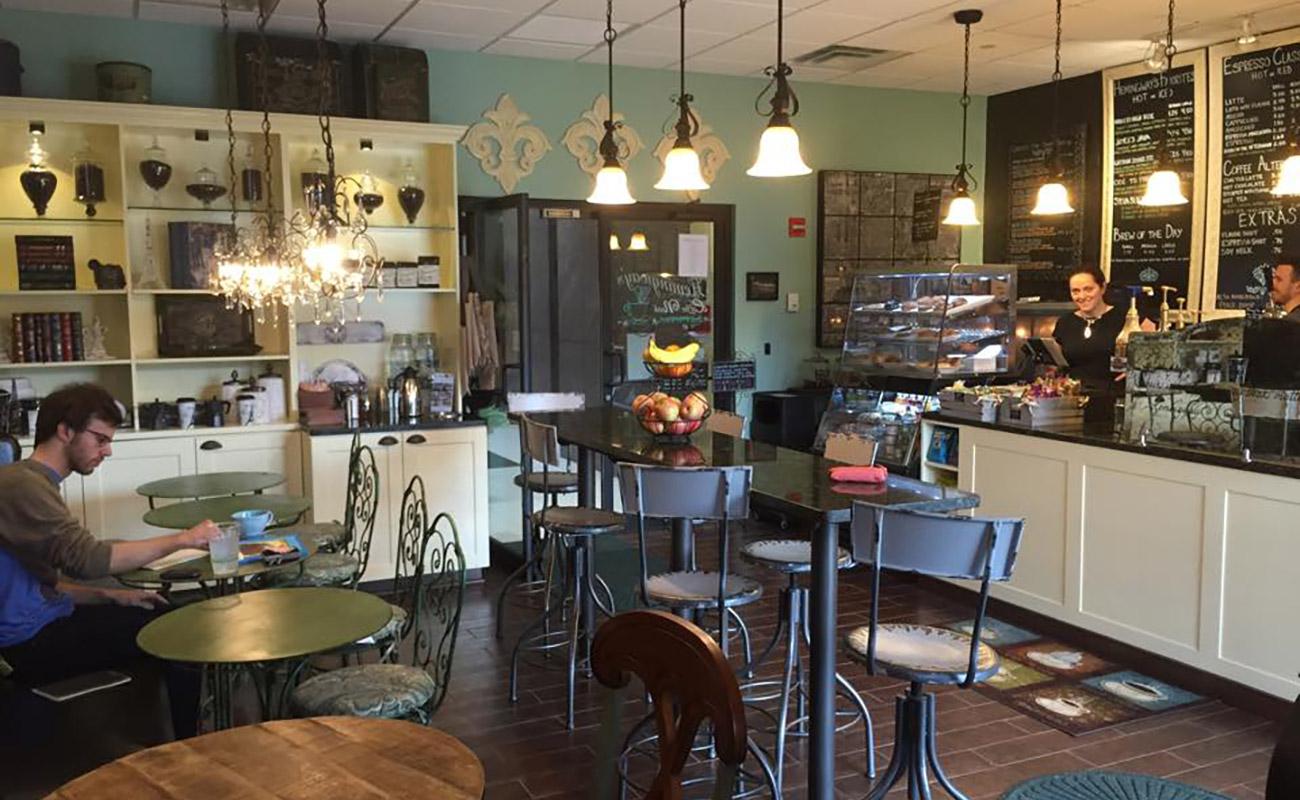 Inside Hemingway's Coffee Nook in Columbus