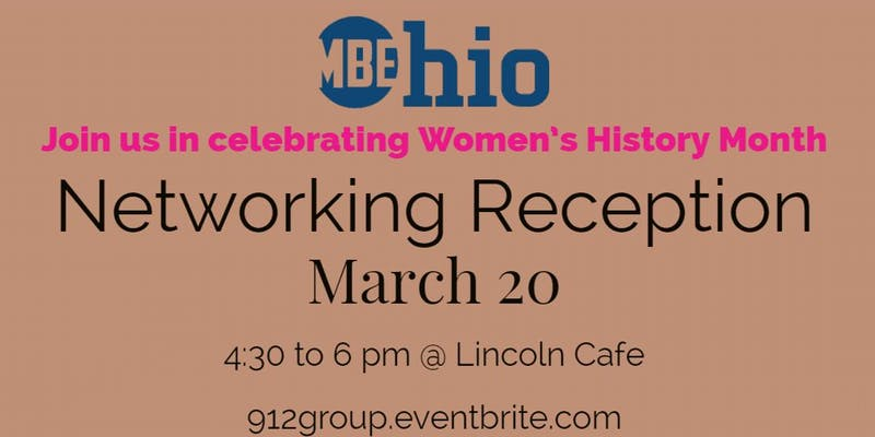 Women's History Month Ohio MPE Networking Reception Event Flyer
