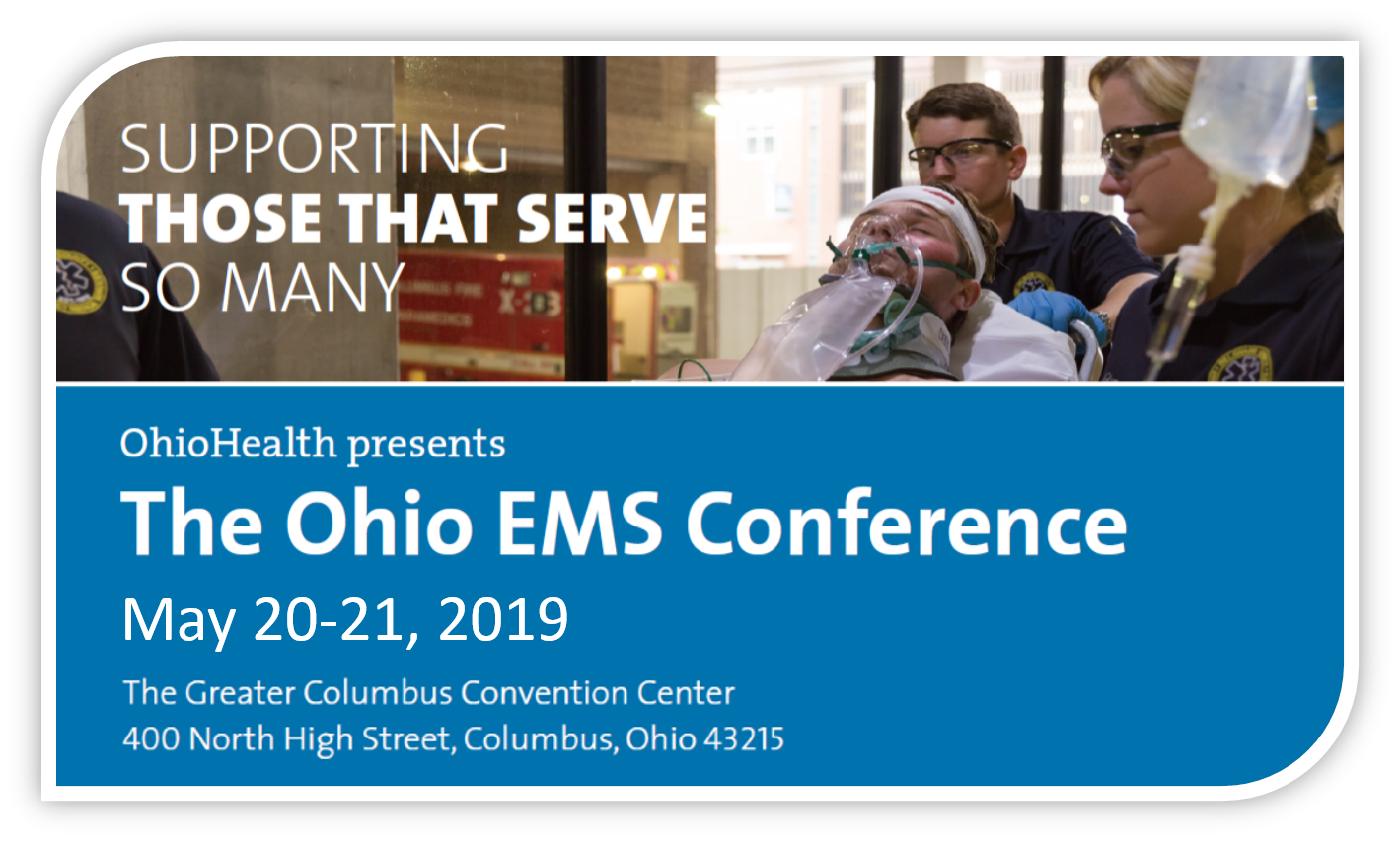 The Ohio EMS Conference event flyer