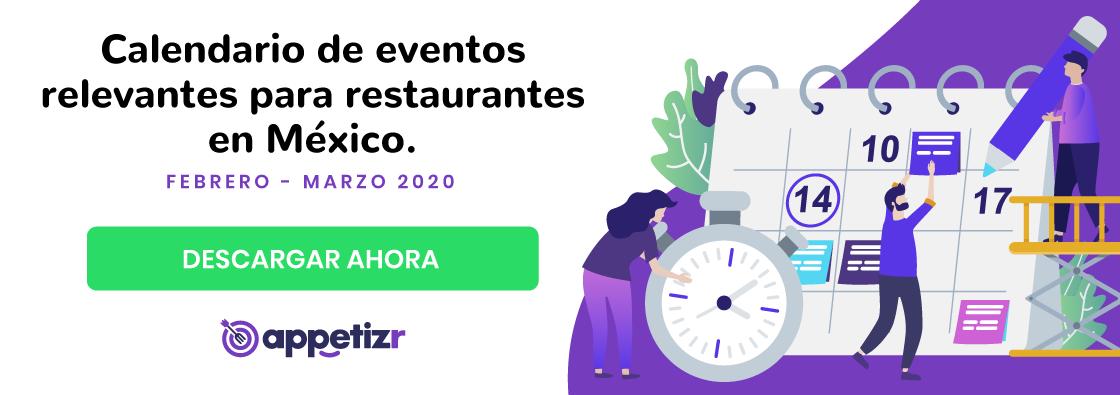 calendario de eventos para restaurantes