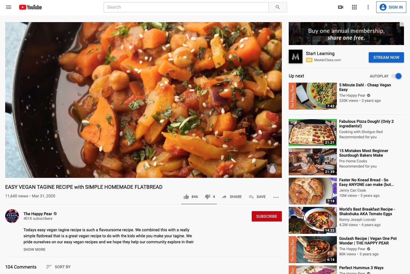 Appetizr - Canal de Youtube para Restaurantes