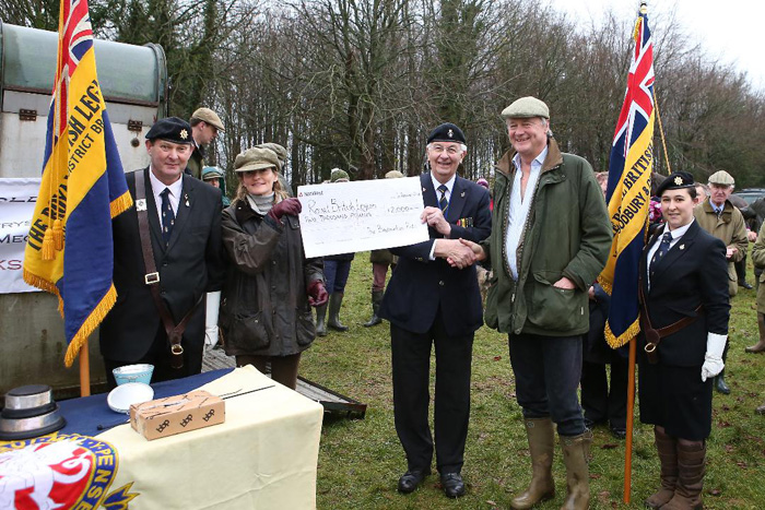 The Beaufort Hunt Presenting Cheque to British Legion
