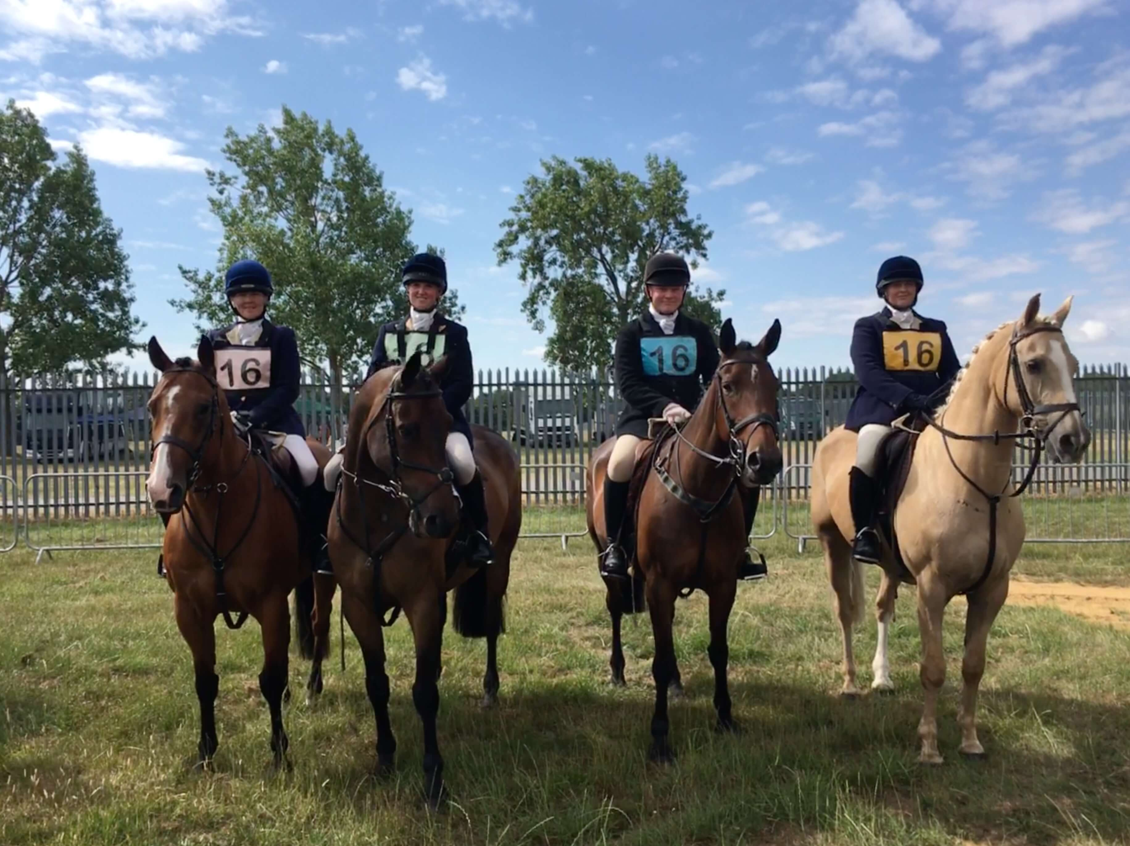 Senior Hunt Relay Team at the Festival of Hunting Peterborough