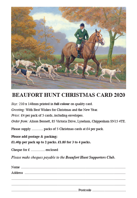 2021 Beaufort Hunt Christmas Card