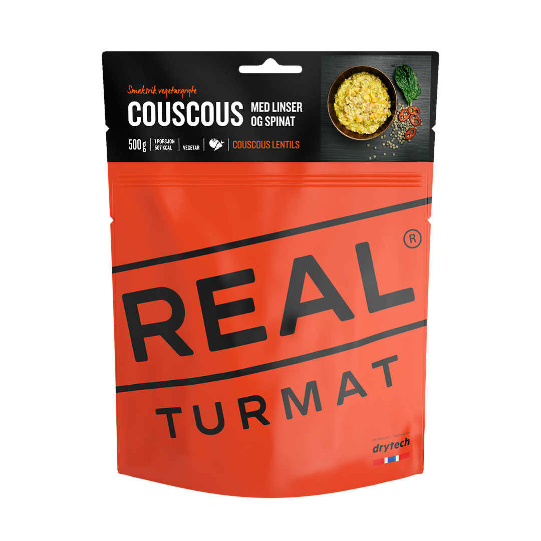 Real turmat | Couscous with lentils and spinach