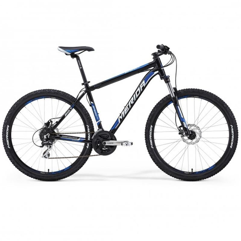 Hardtail mountain bike with winter tires, size 15""