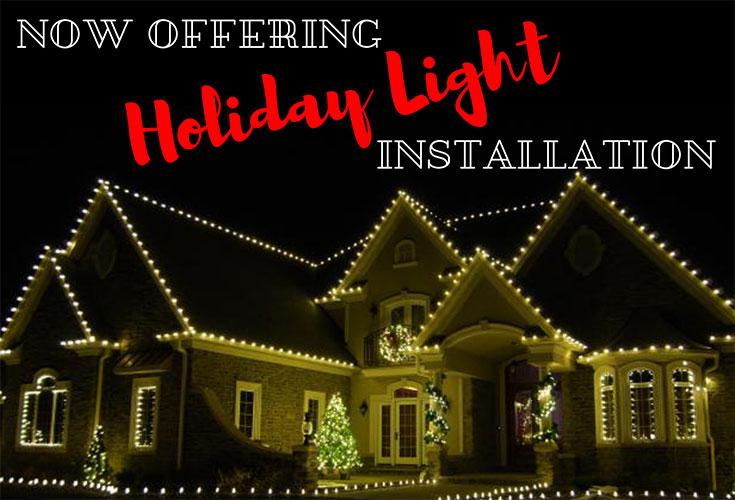 christmas light installation in hot springs village