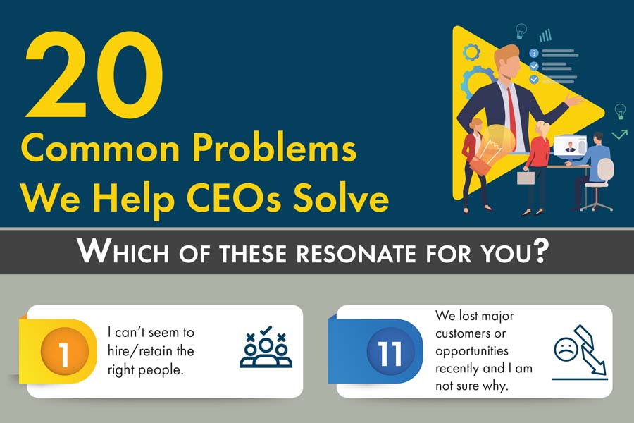 20 Common Problems We Help CEOs Solve
