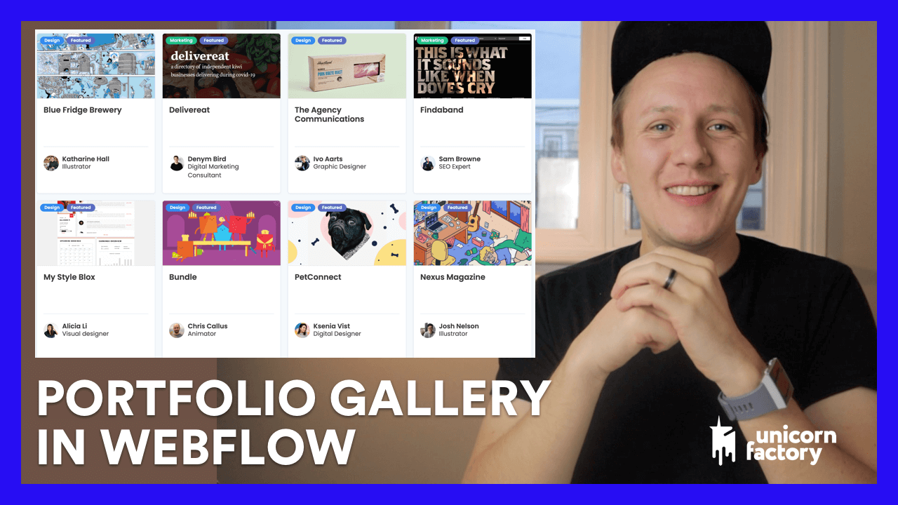 How to build a Portfolio Gallery in Webflow