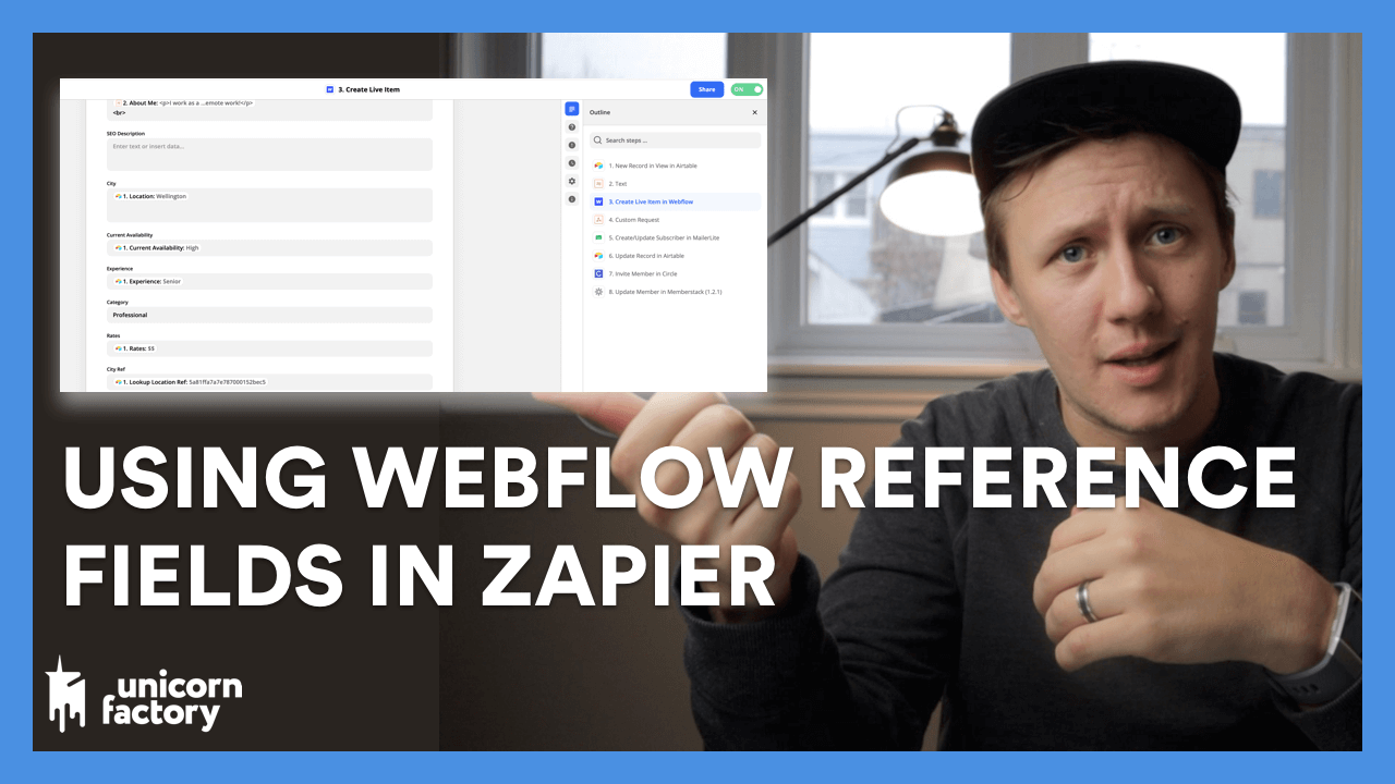 How to use Webflow Reference Fields in Zapier