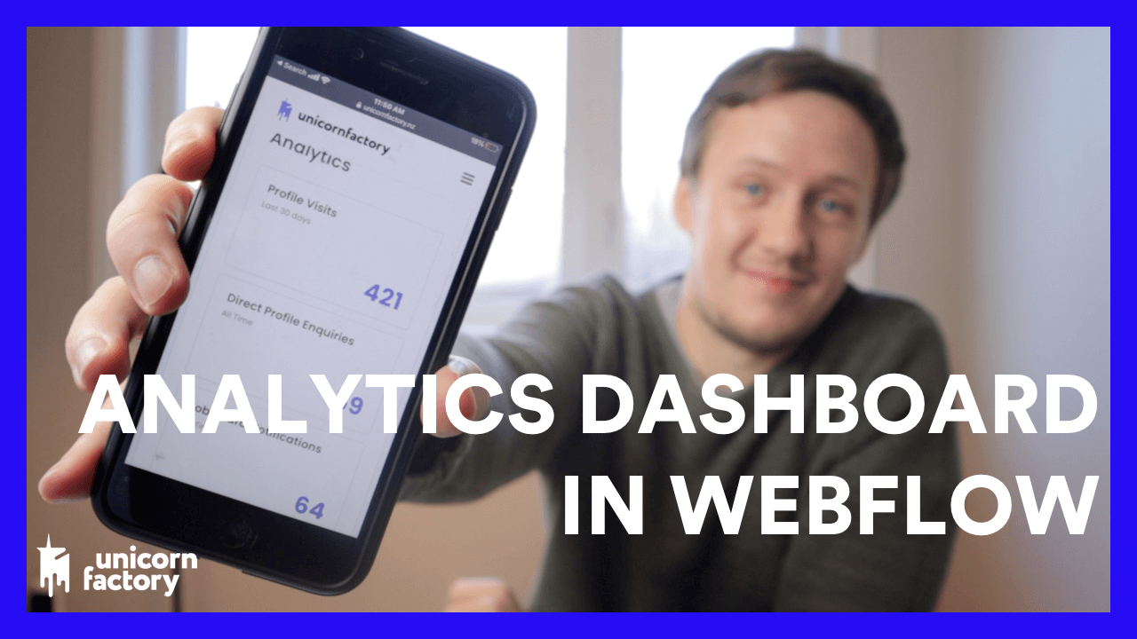 How to build an Analytics Dashboard in Webflow