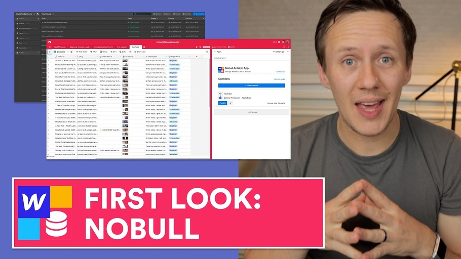 Turning Airtable into your Webflow CMS with the Nobull Airtable App