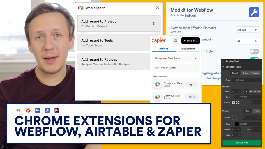 7 Useful Chrome Extensions for Webflow, Airtable & Zapier