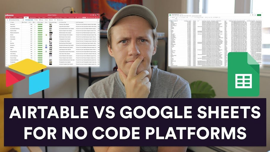 Airtable vs Google Sheets - What is the better No Code Database tool?