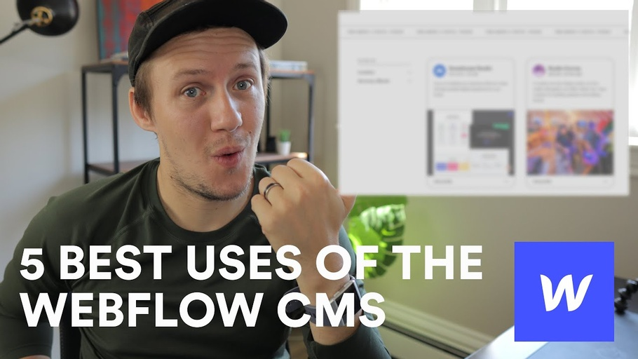 5 best uses of the Webflow CMS | Amazing Webflow Projects