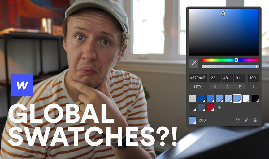 What are Webflow global swatches?