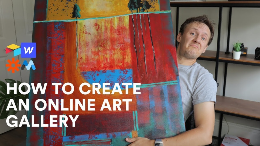 How to build an online art gallery (without code)
