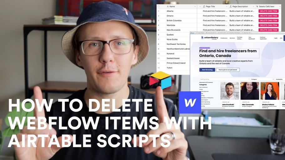 How to delete Webflow Items with Airtable Scripts | Airtable to Webflow (Part 4)