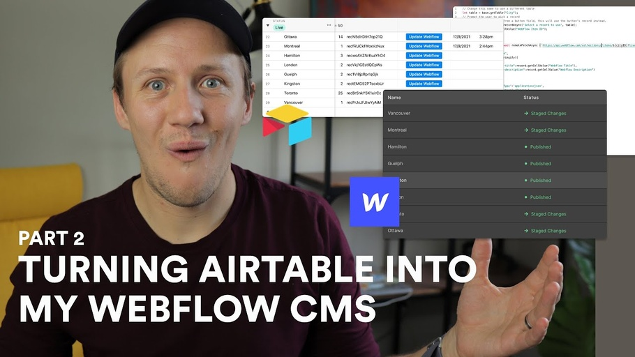 Turning Airtable into my Webflow CMS | Part 2